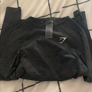 Gymshark Vital Seamless Long Sleeve, XS Black